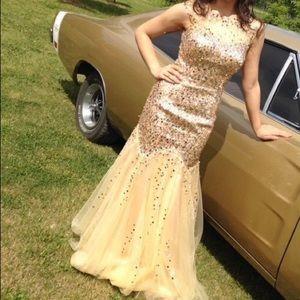 Gold sequin Grad dress